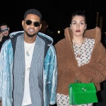 Paris, FRANCE  - **FILE PHOTOS** Usher and partner Jenn Goicoechea announce that they are expecting their first child together.   **SHOT ON 02/27/2020**  Pictured: Usher, Jenn Goicoechea  BACKGRID USA 1 SEPTEMBER 2020   BYLINE MUST READ: Best Image / BACKGRID  USA: +1 310 798 9111 / usasales@backgrid.com  UK: +44 208 344 2007 / uksales@backgrid.com  *UK Clients - Pictures Containing Children Please Pixelate Face Prior To Publication*