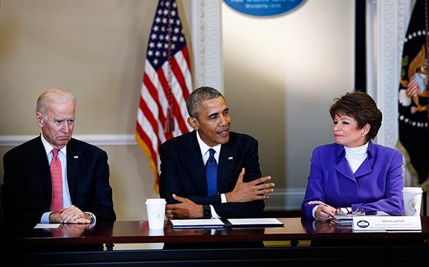 Joe Biden, Barack Obama, Valerie Jarrett