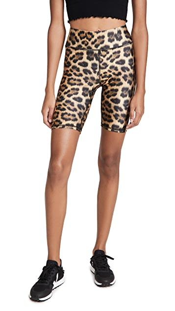 Terez Leopard Goals Bike Shorts