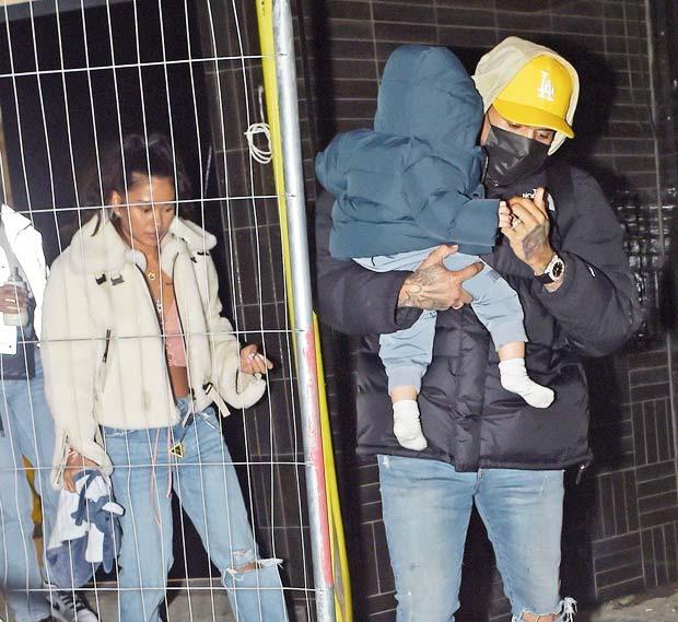 Ammika Harris, Chris Brown & their son Aeko