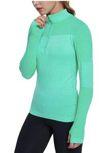 Neon pullover running shirt