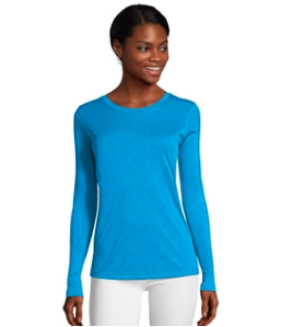 Hanes blue neon workout top