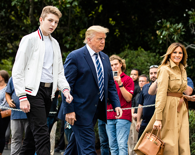 Barron, Donald & Melania Trump