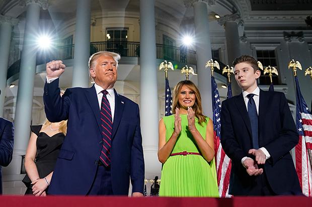 Donald, Melania & Barron Trump