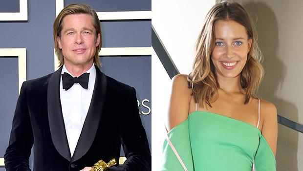 Brad Pitt Nicole Poturalski Split Actor Model Are Totally Over Hollywood Life
