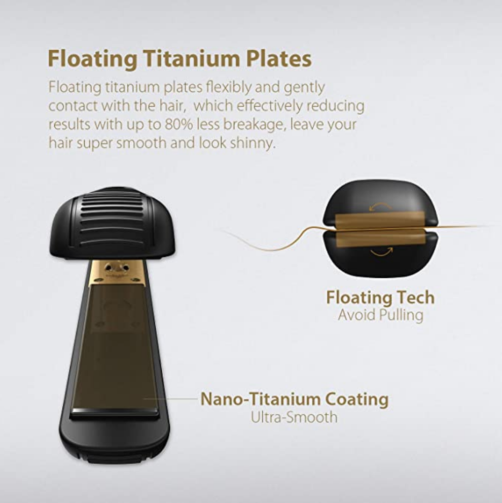 KIPOZI Professional Flat Iron Titanium