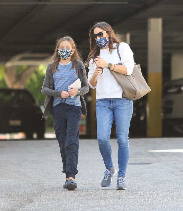 Celebrities parents kids face masks Halloween