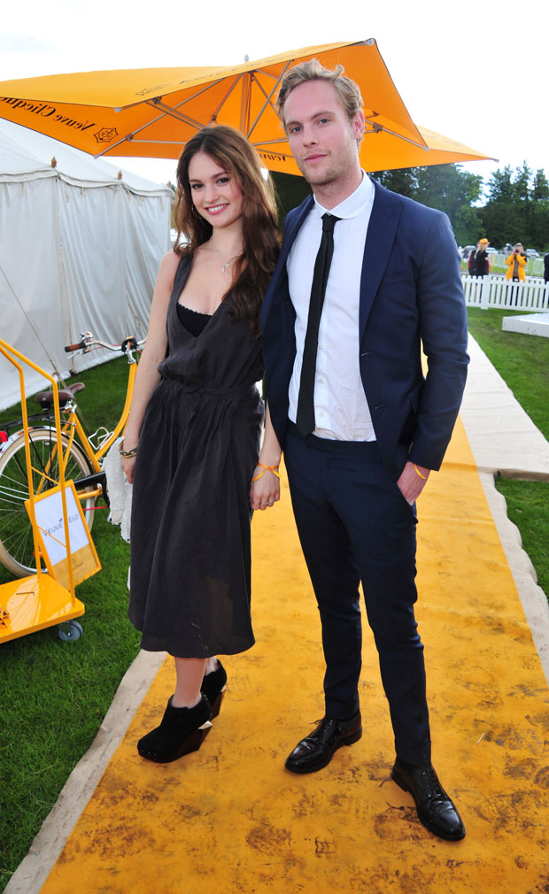 Lily James and Jack Fox