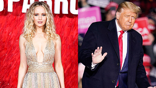 Jennifer Lawrence and Donald Trump