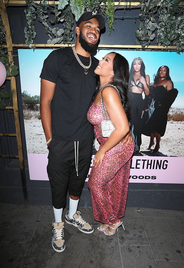 Jordyn Woods & Karl-Anthony Towns at Pretty Little Thing Event