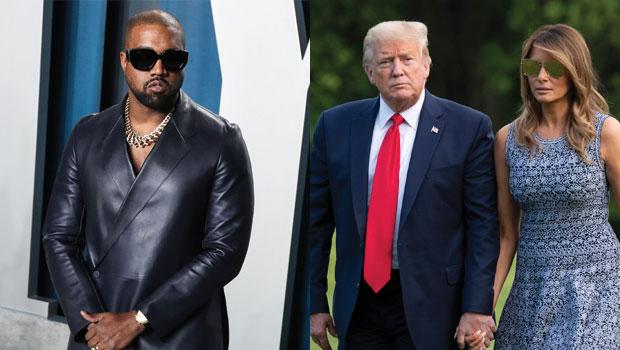 Kanye West, Donald Trump, Melania Trump