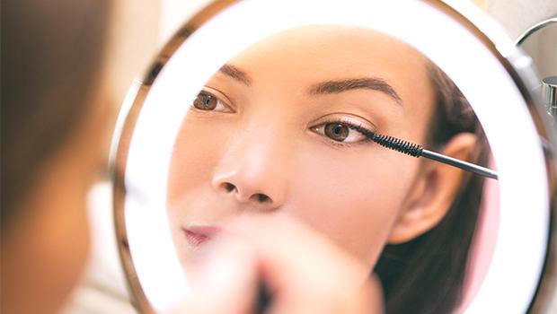 Magnified LED Light Makeup Mirror