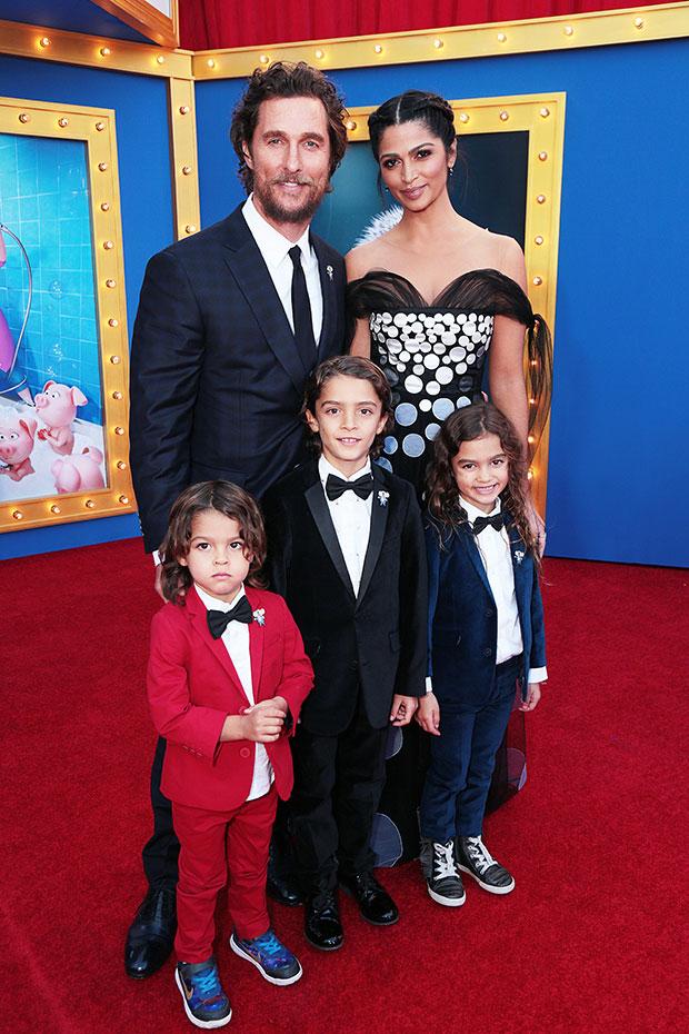 Matthew McConaughey & family