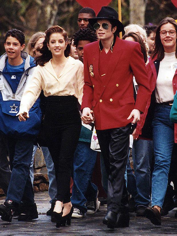 Lisa Marie Presley and Michael Jackson