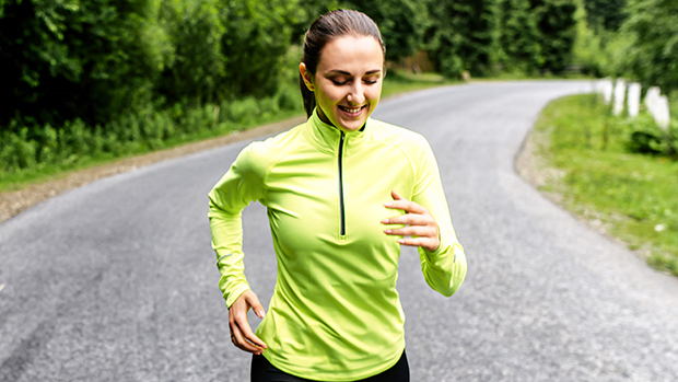 Long Sleeve Neon Tops To Wear While Running At Night
