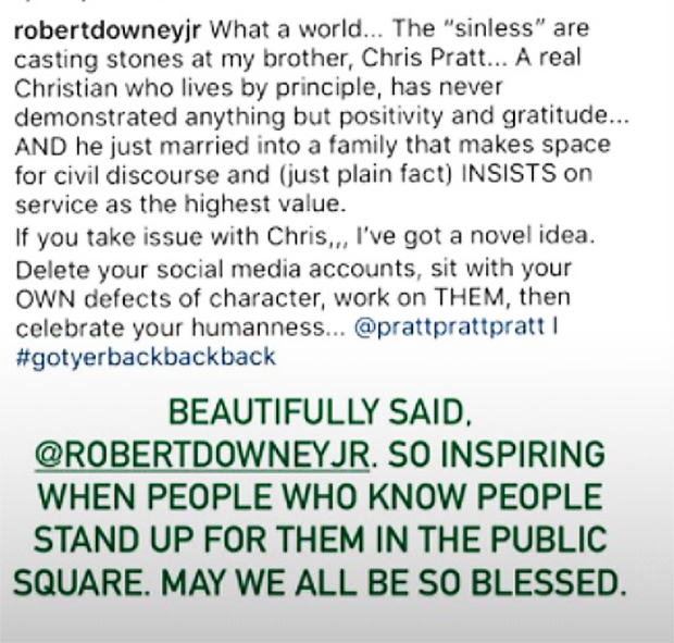 Maria Shriver, Robert Downey Jr., Chris Pratt