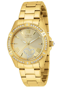 Invicta Gold Waterproof Watch
