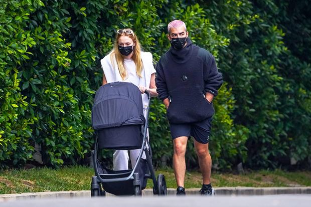Sophie Turner & Joe Jonas with their daughter in LA