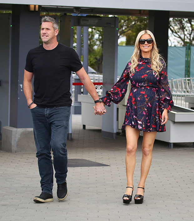 Christina & Ant Anstead holding hands