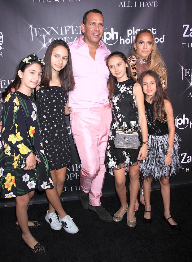 Alex Rodriguez, Jennifer Lopez and their kids