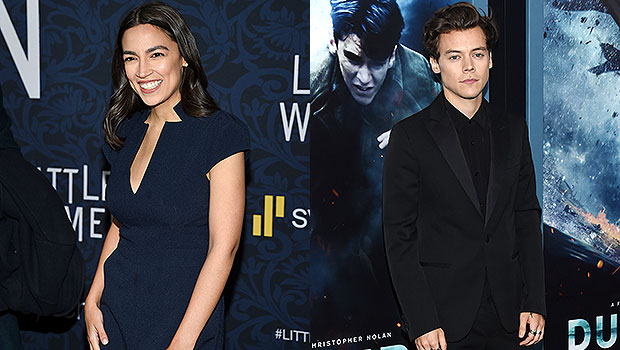 Alexandria Ocasio-Cortez Likens Harry Styles To James Dean After He Wears A Dress On 'Vogue'