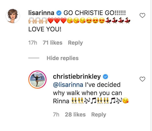 Christie Brinkley and Lisa Rinna