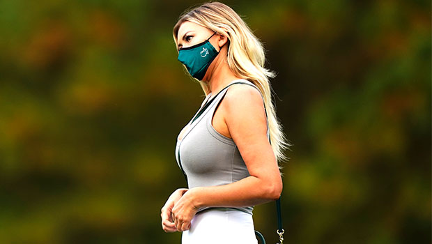 Paulina Gretzky Rocks Tight White Pants To Cheer On Dustin Johnson At The Masters