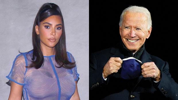 Kim Kardashian Likes Tweet About Voting For Joe Biden After Kanye West Votes For Himself
