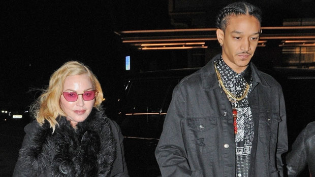 Madonna, 62, Sits On BF Ahlamalik Williams' Lap In Rare Clip With All 6 Of Her Kids — Watch