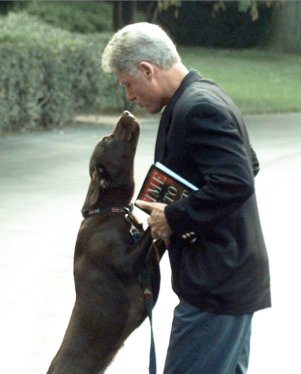 Bill Clinton and Buddy