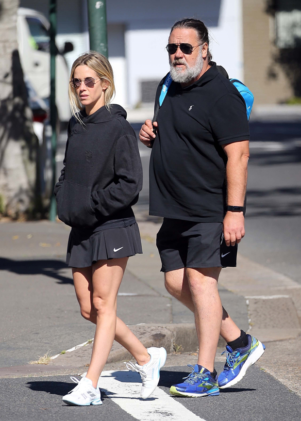 Russell Crowe and Britney Theriot