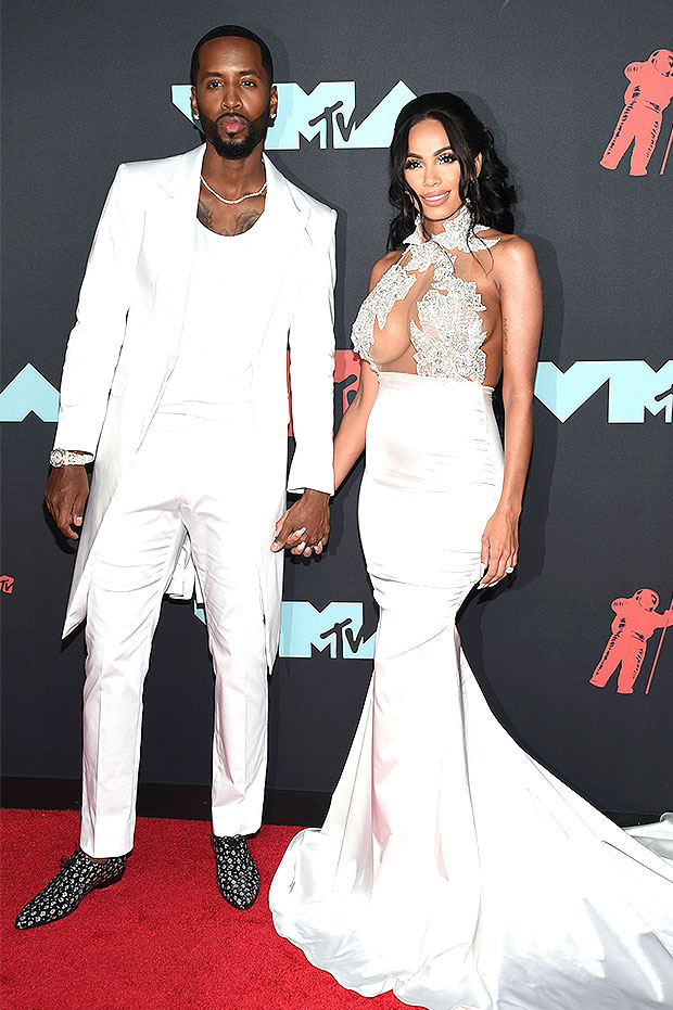Safaree Samuels & Erica Mena at the 2019 MTV VMAs