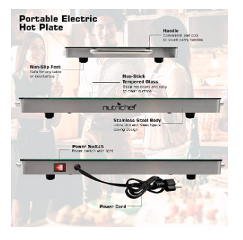 Nutrichef Hot Plate
