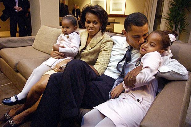Michelle Obama Barack Obama Daughters