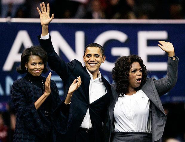 MIchelle Obama Barack Obama Oprah Winfrey