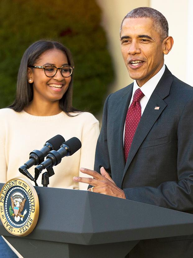 Sasha Obama Barack Obama