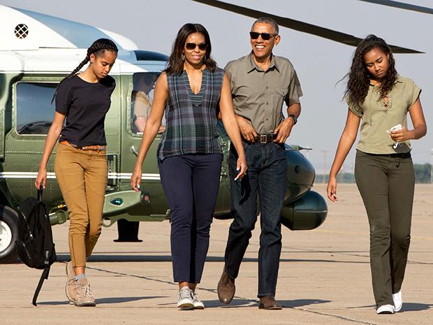 Sasha Obama Barack Obama Michelle Malia Obama