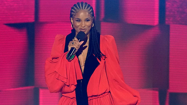 Ciara Wows In Plunging Red Gown At 2020 AMAs In 1st Awards Show Appearance Since Giving Birth