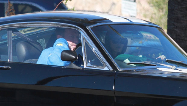 Dakota Johnson & Chris Martin Are Spotted In Rare Outing Driving Around Malibu In Her Mustang — See Pics