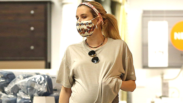 Emma Roberts Has Popped: See Pics Of Her Cradling Baby Bump As She Shops In IKEA