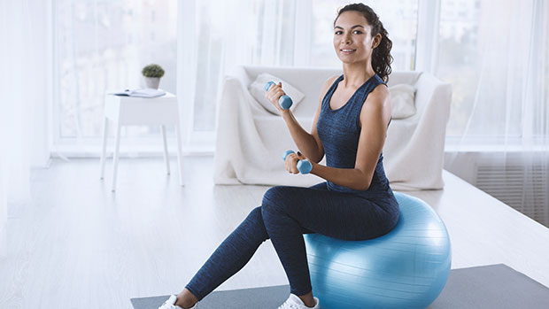 Cyber Monday Deal: This Exercise Ball Can Be Used As A Desk Chair Or For Workouts & It's Under $20