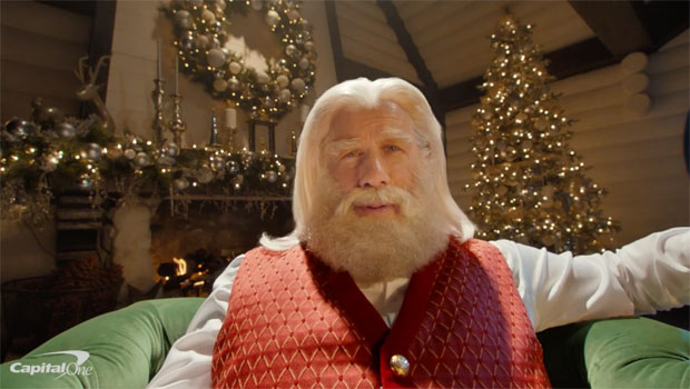 John Travolta Transforms Into Santa While Reuniting With 'Pulp Fiction' Pal Samuel L. Jackson In Holiday Ad