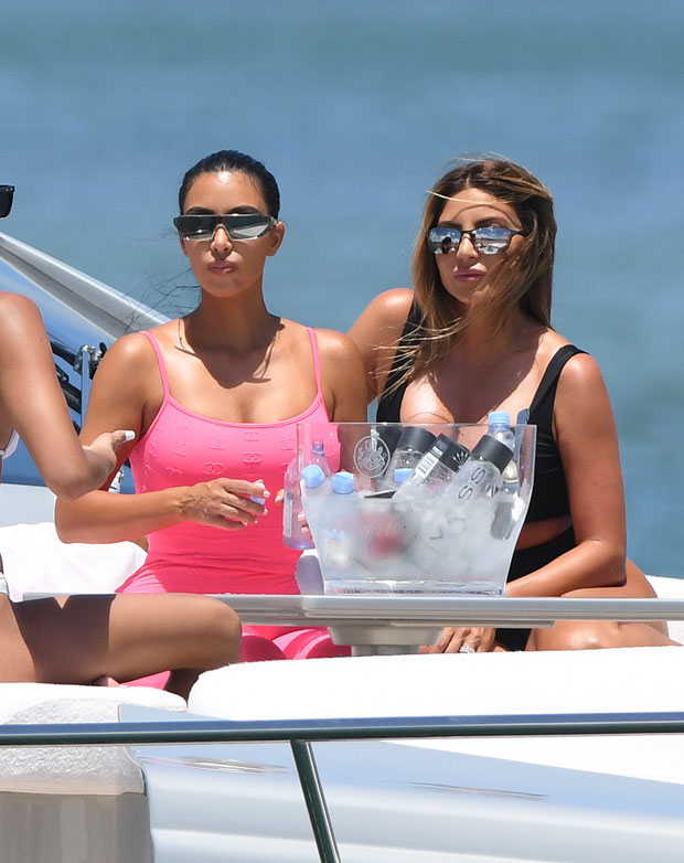 Kim Kardashian and Larsa Pippen