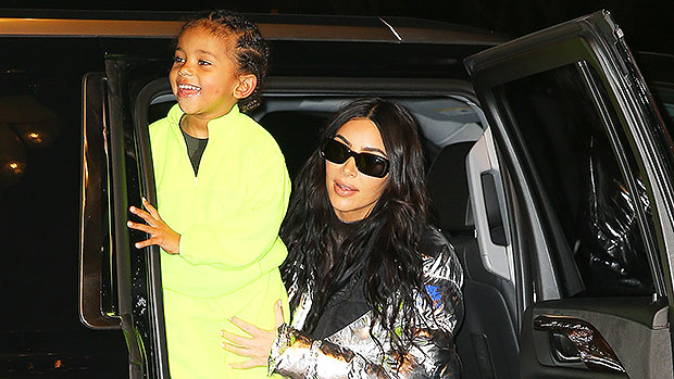 "Kim Kardashian's Son Saint, 4, Gives Her ""Savage"" Kisses & Giggles Hysterically — Watch"