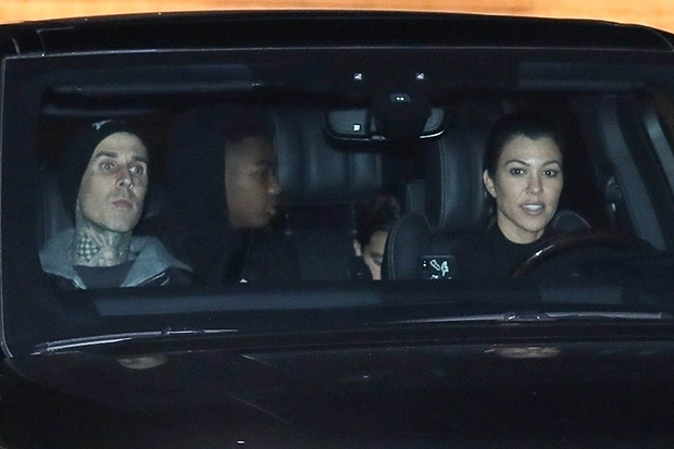 Travis Barker and Kourttney Kardashian