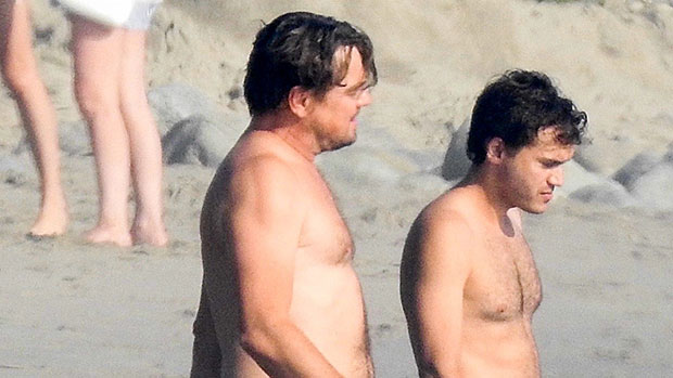 Leonardo DiCaprio, 45, Goes Shirtless While Hitting The Beach With Emile Hirsch In Rare Photos