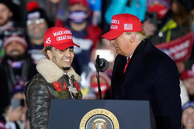 Lil Pump at Trump rally