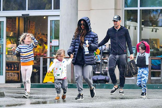 Megan Fox & Brian Austin Green & their kids