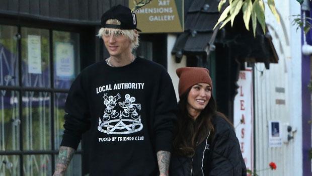 Megan Fox Cuddles Up To Machine Gun Kelly After Feuding With Ex Brian Austin Green On Social Media