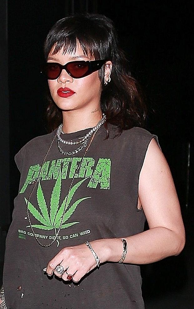 Rihanna mullet
